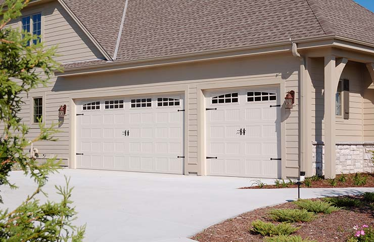 chi steel 2 sided garage doors