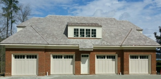 Four 9x8 Model 5332 Garage Doors   Four 9x8 Model 5332 Almond Double Sided  Steel Carriage Style Garage Doors With Top Square Madison Glass Installed  By The ...