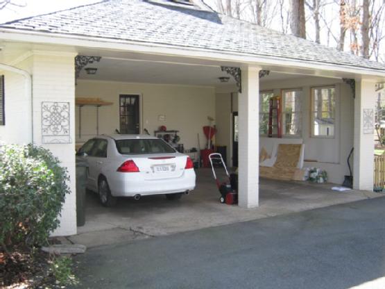 Before - a simple carport. & Virginia Residential Garage Doors Interior and Exterior Door ... Pezcame.Com