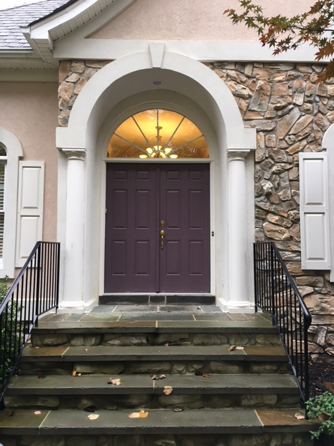 Heritage smooth fiberglass french entry doors