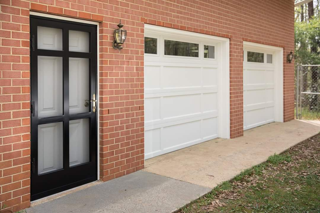 garage doors and storm door