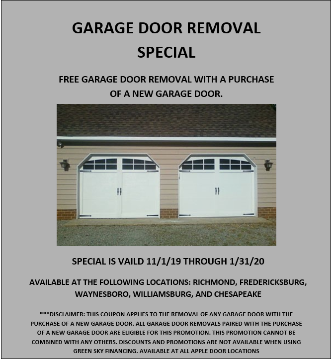Apple Door Commercial And Residential Garage Door Specials