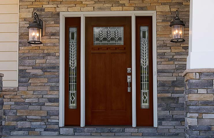 High quality wood and steel entrance doors complete line for Residential front entry doors