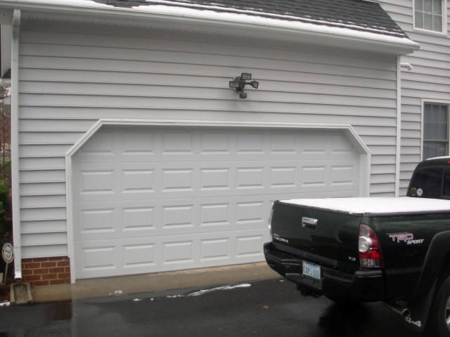 before garage door - Garage Door With Door