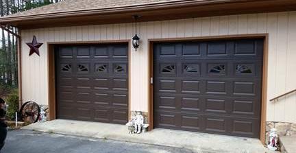Apple Door Of Fredericksburg Replaced Old, Tired 9X8 Wooden Garage Doors  With Modern Insulated C.H.I. Model 2251 Steel Garage Doors With Decorative  Glass In ...