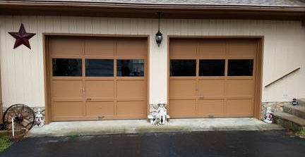 Superieur Apple Door Of Fredericksburg Replaced Old, Tired 9X8 Wooden Garage Doors  With Modern Insulated C.H.I. Model 2251 Steel Garage Doors With Decorative  Glass In ...