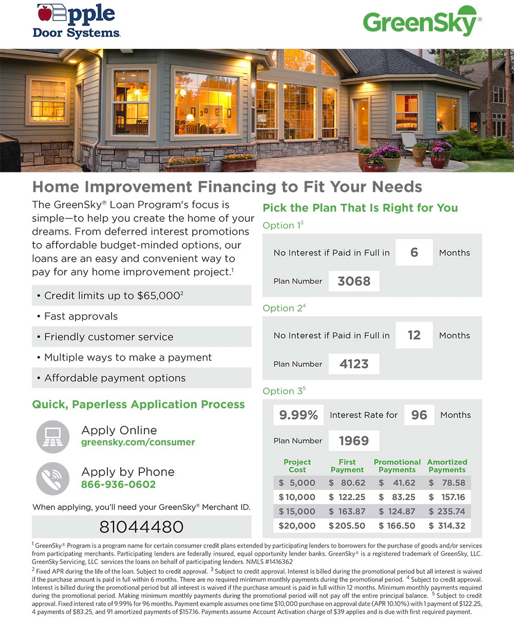 green sky door financing