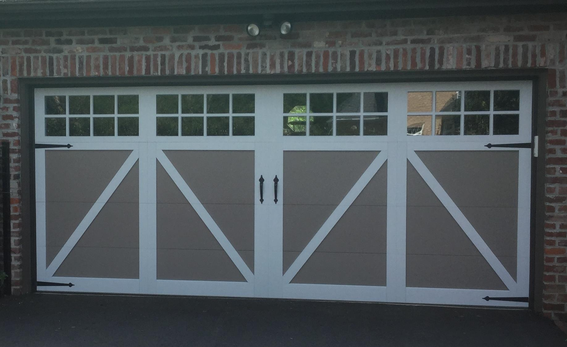 Carriage House Overlay Garage Door Spruces Up Midlothian Home