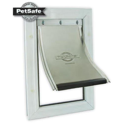 Thinking about a doggie door for your storm door?