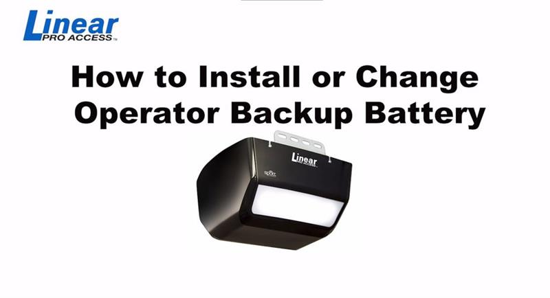 DIY Linear - How to Install or Change a Battery Backup