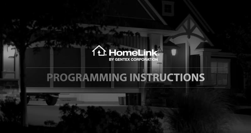 DIY HomeLink - How to program HomeLink